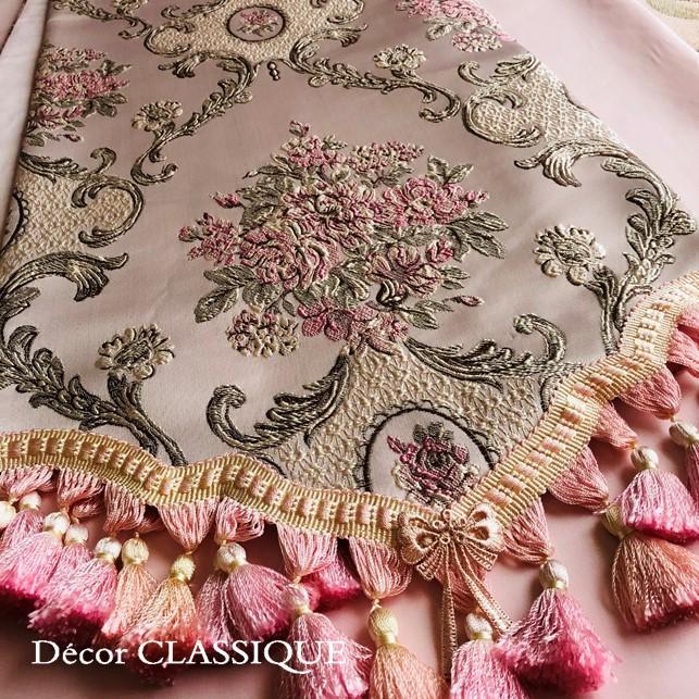 テーブルランナー:テーブルセンター 長さ200cm/230cm:エレガントローズシリーズ ピンク Decor CLASSIQUE|decor-classique|06