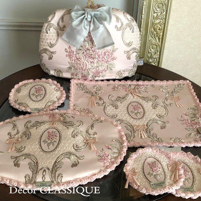 テーブルランナー:テーブルセンター 長さ200cm/230cm:エレガントローズシリーズ ピンク Decor CLASSIQUE|decor-classique|09