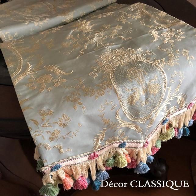 シルクテーブルランナー テーブルセンター:フォンテーヌ 240cm Decor CLASSIQUE|decor-classique|03