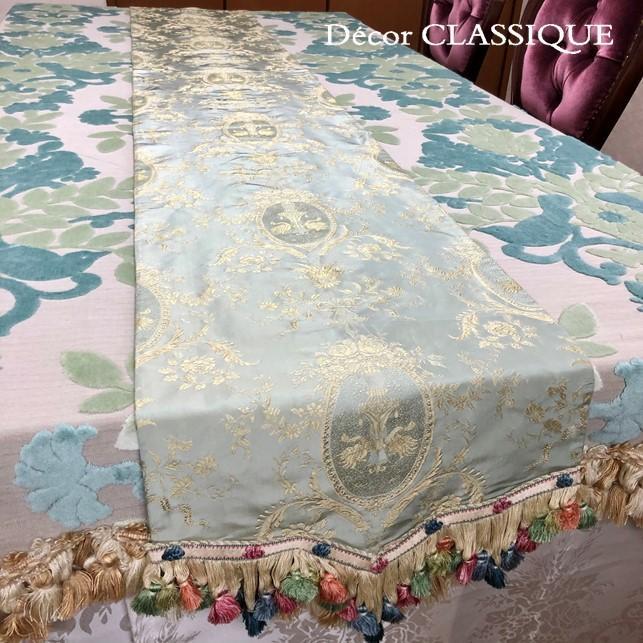 シルクテーブルランナー テーブルセンター:フォンテーヌ 240cm Decor CLASSIQUE|decor-classique|04