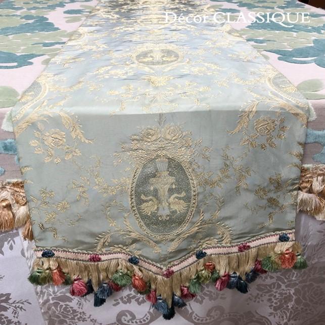 シルクテーブルランナー テーブルセンター:フォンテーヌ 240cm Decor CLASSIQUE|decor-classique|05