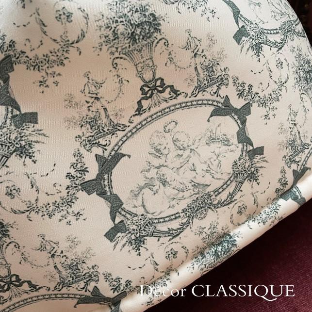 ティーコゼー・ティーコージー・ティーポットカバー:エンジェルトワル チャコールグレー 撥水加工 リボン付き Decor CLASSIQUE|decor-classique|10