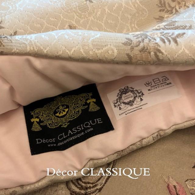 ティーコゼー・ティーコージー・ティーポットカバー:エレガントローズシリーズ:エクリュローズ モアレリボン付き:Decor CLASSIQUE decor-classique 05