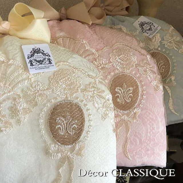 エレガントティーコゼー・ティーコージー・ティーポットカバー:淑女の扇とフルールドリスボゥ Decor CLASSIQUE 立体縫製 マット別売り|decor-classique