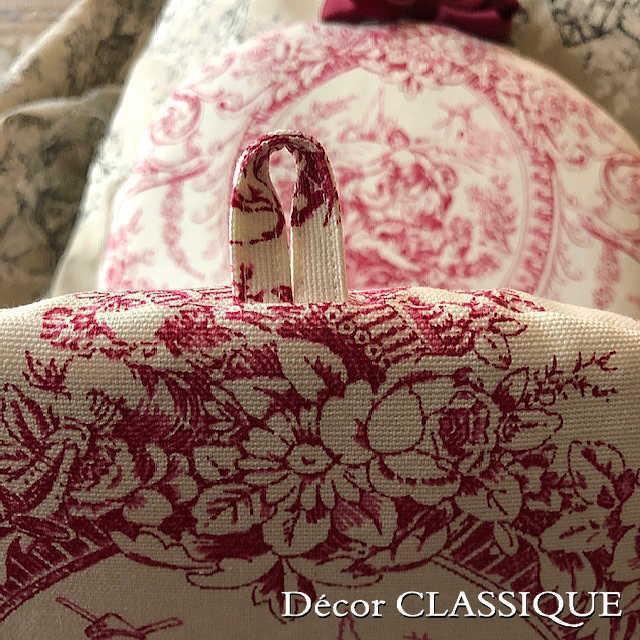 ティーコゼー・ティーコージー・ティーポットカバー:トワルパストラル リボン付き Decor CLASSIQUE|decor-classique|06