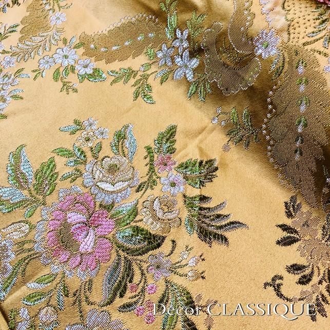 スクエアクロス ヴィンテージイタリアンフローラルブロケードリッチゴールド Decor CLASSIQUE|decor-classique|11