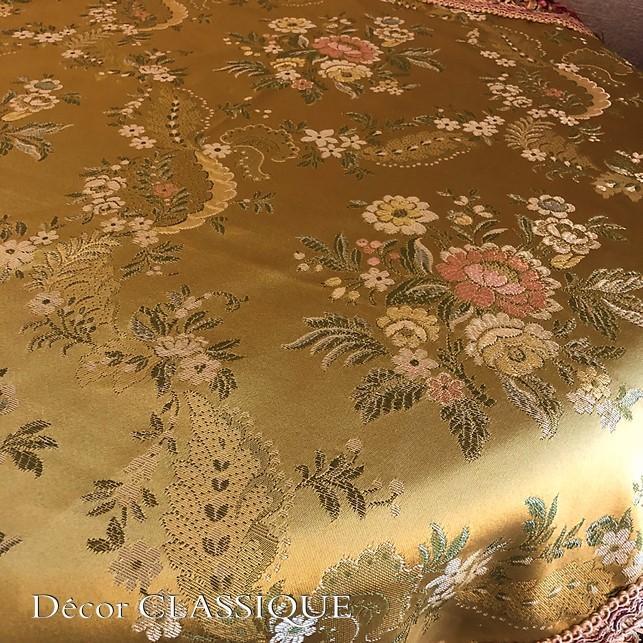 スクエアクロス ヴィンテージイタリアンフローラルブロケードリッチゴールド Decor CLASSIQUE|decor-classique|12