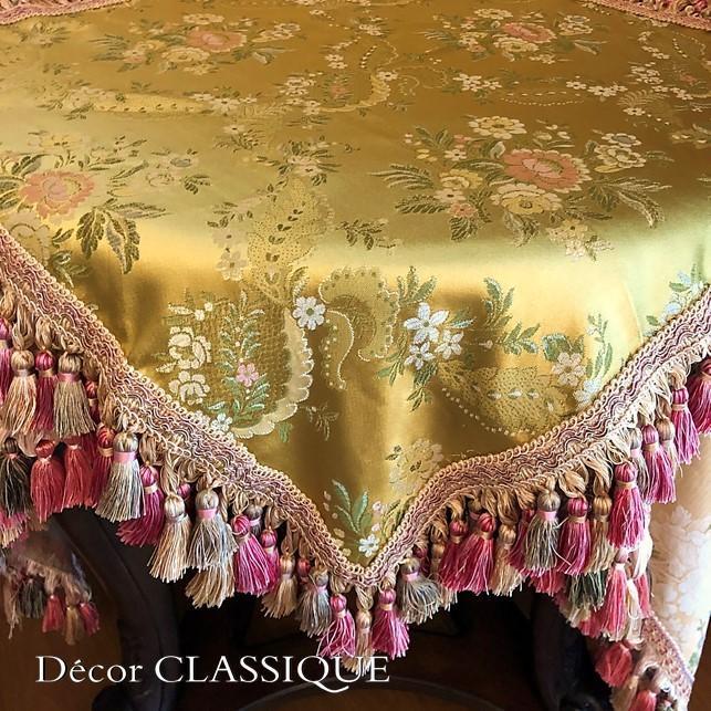 スクエアクロス ヴィンテージイタリアンフローラルブロケードリッチゴールド Decor CLASSIQUE|decor-classique|03