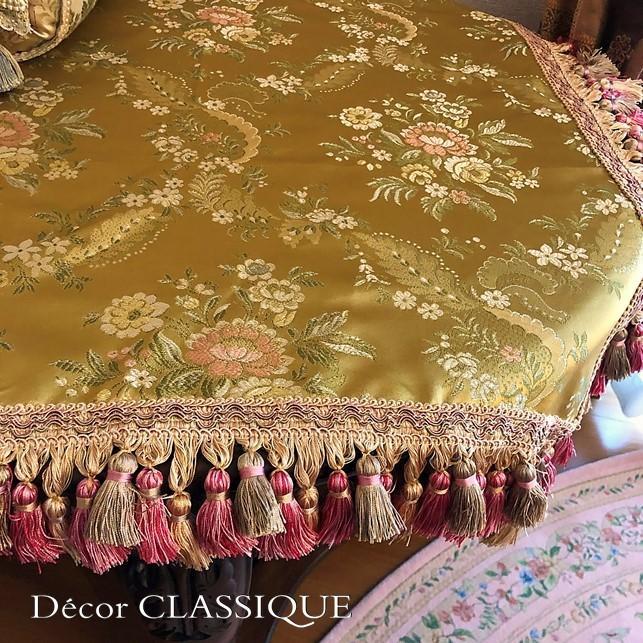 スクエアクロス ヴィンテージイタリアンフローラルブロケードリッチゴールド Decor CLASSIQUE|decor-classique|06