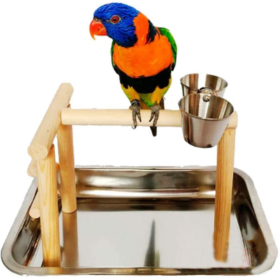 バードアスレチック 鳥スタンド 止まり木 餌台 鳥かご インコ オウム 遊園地 ブランコ ケージスタンド|deepark-store