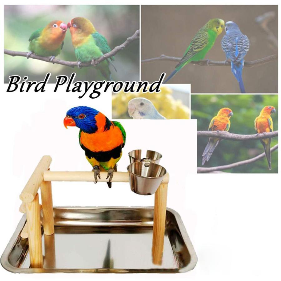 バードアスレチック 鳥スタンド 止まり木 餌台 鳥かご インコ オウム 遊園地 ブランコ ケージスタンド|deepark-store|02