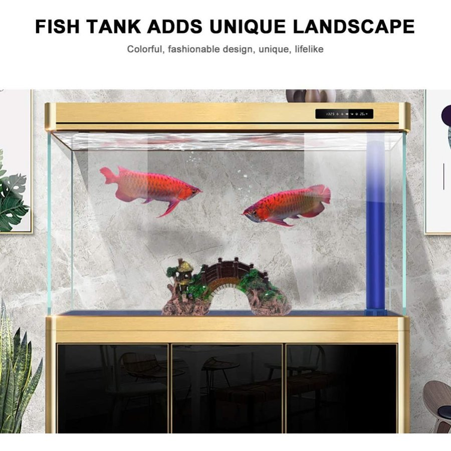 ledmomo 水槽用 オブジェ 橋 アクアリウム オーナメント 樹脂 水槽 装飾 水族館 飾り 観賞魚 熱帯魚|dehestore|04