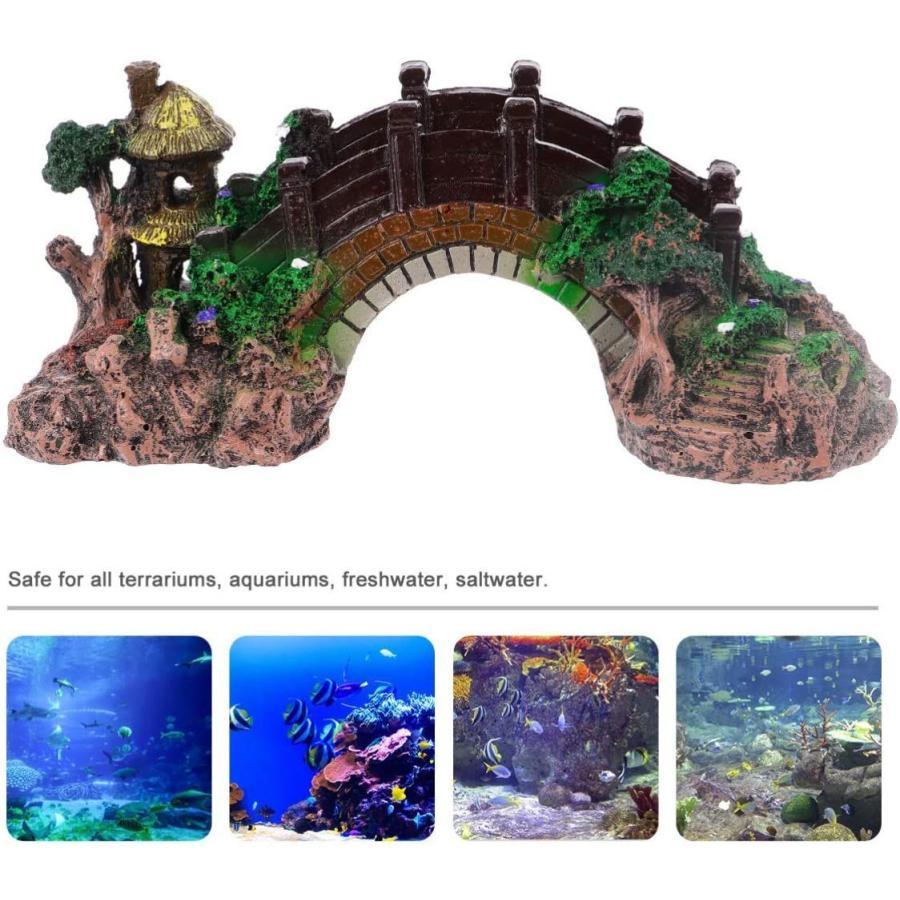 ledmomo 水槽用 オブジェ 橋 アクアリウム オーナメント 樹脂 水槽 装飾 水族館 飾り 観賞魚 熱帯魚|dehestore|08