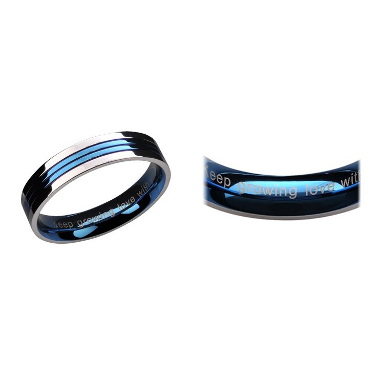 指輪 レディース シンプル ステンレス ブルー ペアリング|delacruz|07