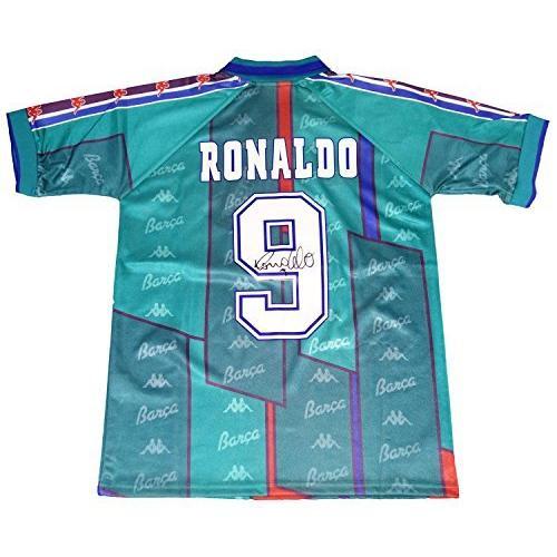 THE DUGOUT(ザ·ダグアウト) ロナウド 直筆サイン入り 96/97 FCバルセロナ ユニフォーム TDRB15161