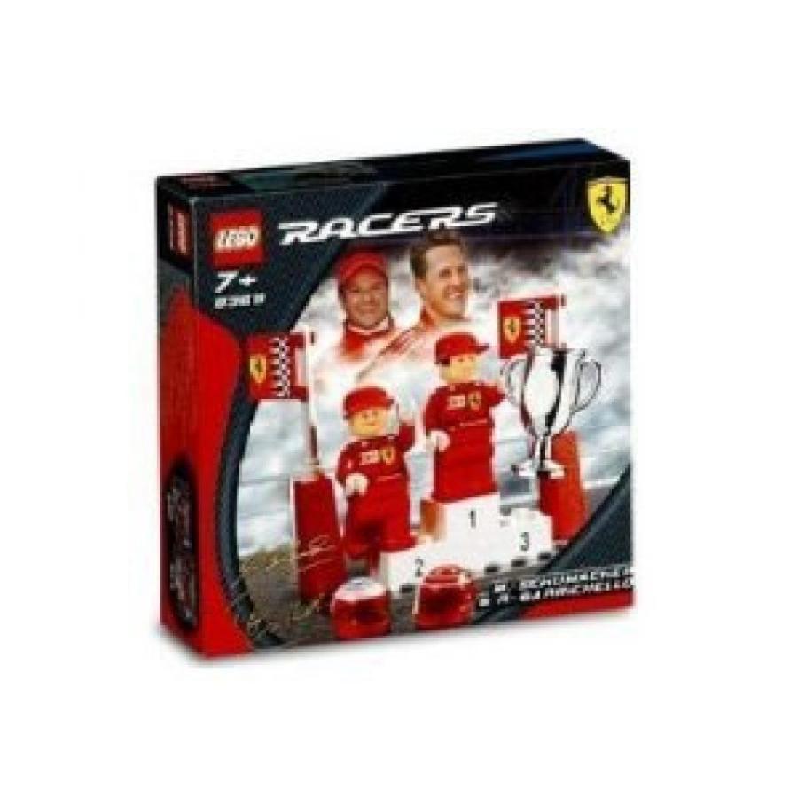 おもちゃ ゲーム 積み木 レゴ ブロック LEGO RACERS FERRARI SET #8389 MICHAEL SCHUMACHER & RUBENS BARRICHELLOミニフィギュア