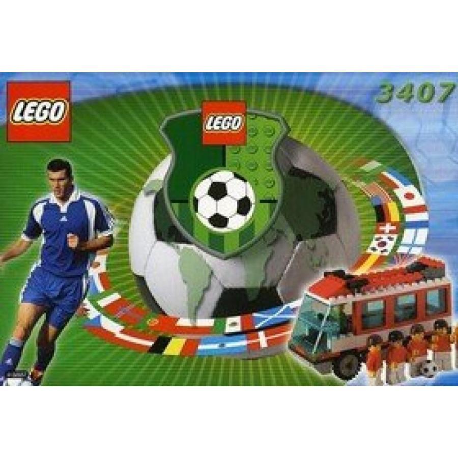 おもちゃ ゲーム 積み木 レゴ ブロック Lego 3407 Soccer Sports 赤 Busミニフィギュア