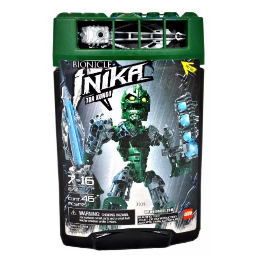 おもちゃ ゲーム 積み木 レゴ ブロック Lego Year 2006 Bionicle Inika Series Figure Set # 8731 - 緑 TOA KONGU with Laser Crossbow with Light-Up