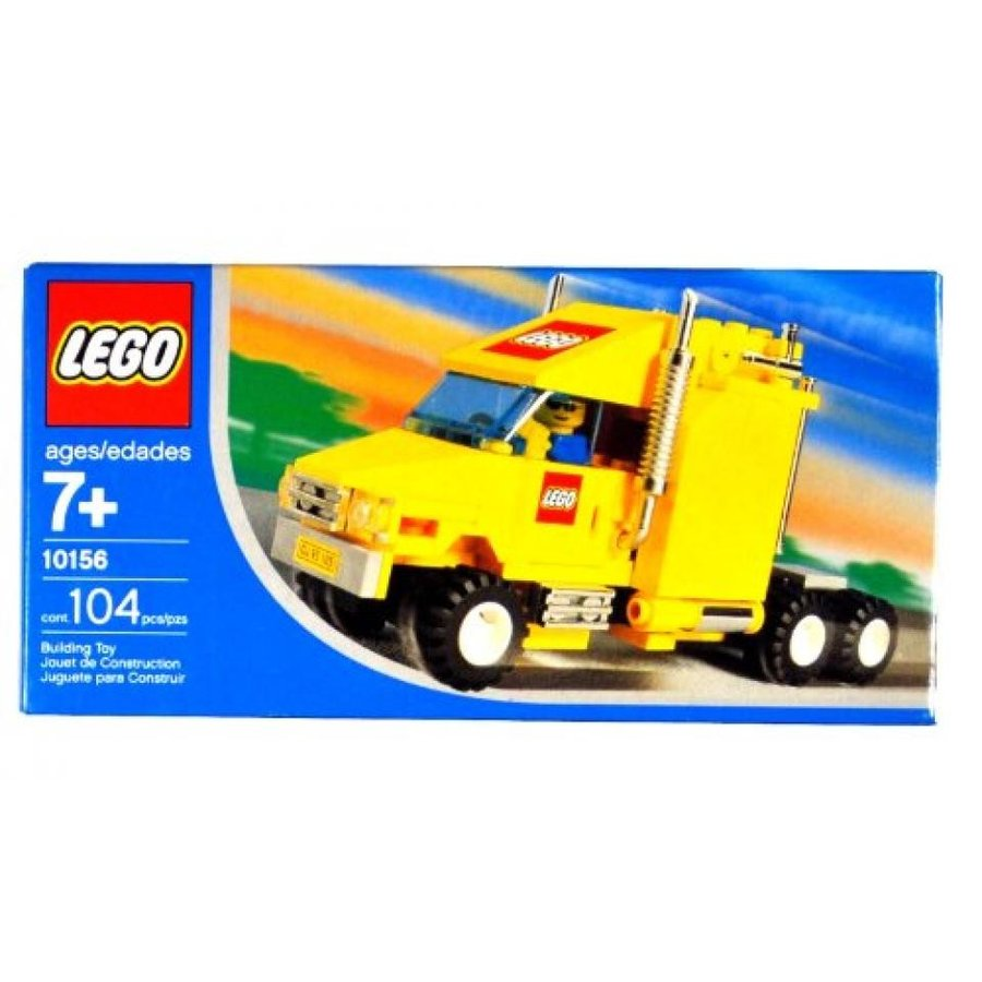 おもちゃ ゲーム 積み木 レゴ ブロック Lego Year 2004 Exclusive City Series Set #10156 - 黄 Truck with Shiny Chrome Exhaust Pipes, LEGO Logo and