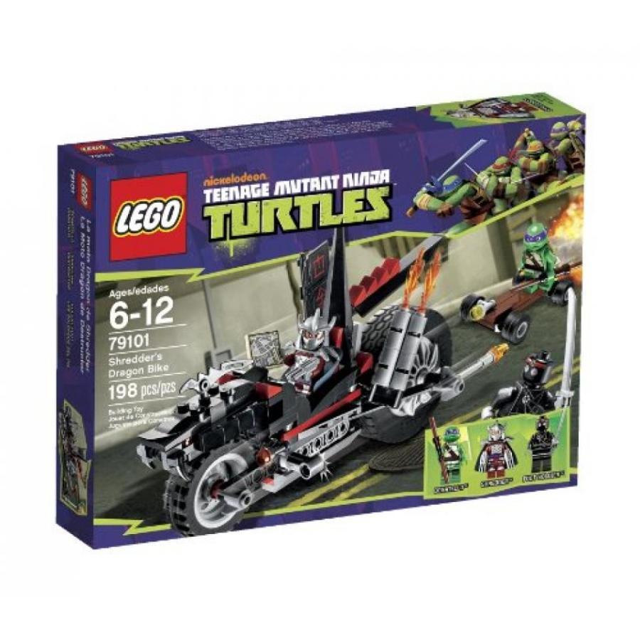 おもちゃ ゲーム 積み木 レゴ ブロック LEGO Ninja Turtles Sh赤der Dragon Bike 79101ミニフィギュア