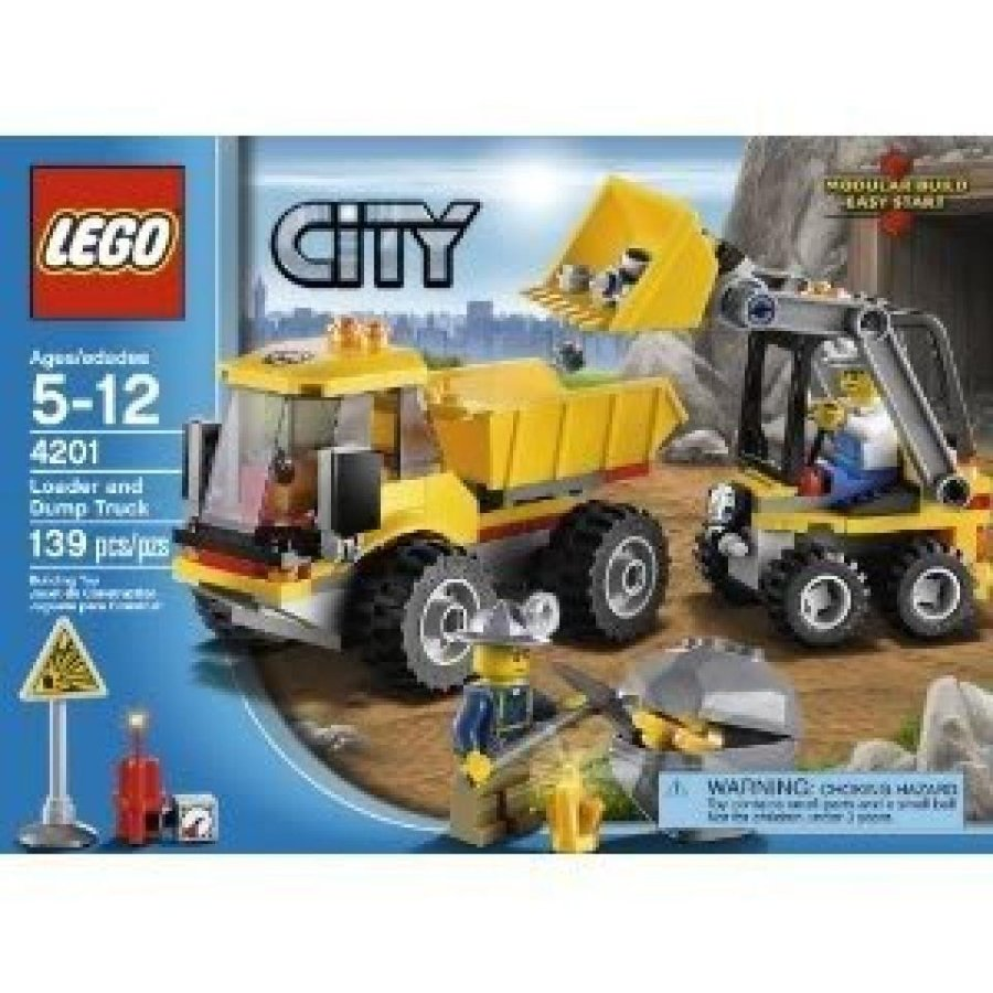 おもちゃ ゲーム 積み木 レゴ ブロック Toy / Game LEGO City 4201 Loader And Tipper With 2 Mining Helmets, Hatchet, Lifting Bucket And Dumping Function