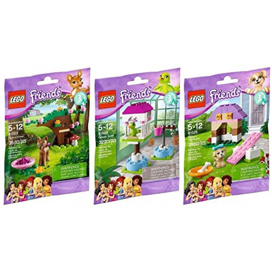 おもちゃ ゲーム 積み木 レゴ ブロック Lego Friends Animal Series 3 Complete Set with Parrot Puppy Fawnミニフィギュア