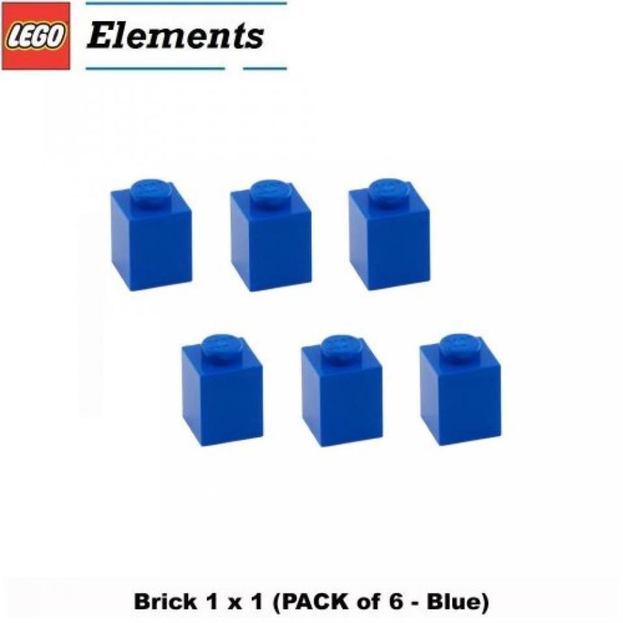 おもちゃ ゲーム 積み木 レゴ ブロック Lego Parts: Brick 1 x 1 (PACK of 6 - 青)ミニフィギュア