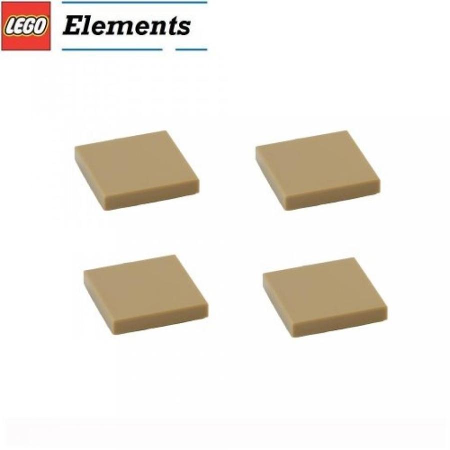 おもちゃ ゲーム 積み木 レゴ ブロック Lego Parts: Tile 2 x 2 (PACK of 4 - Dark Tan)ミニフィギュア