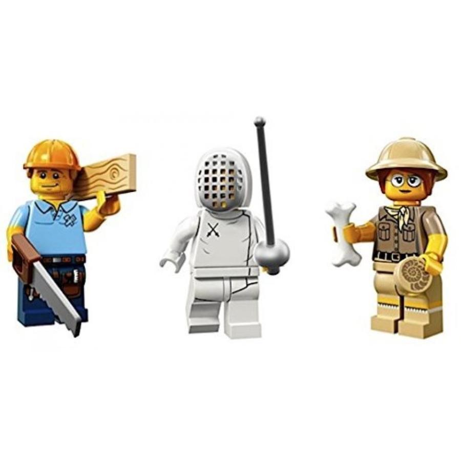 おもちゃ ゲーム 積み木 レゴ ブロック Carpenter, Olympic Fencer, Paleontologist: Lego Collectible Minifigures Series 13 Custom Bundle