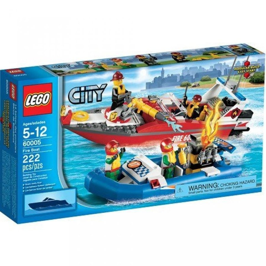 おもちゃ ゲーム 積み木 レゴ ブロック City Feuerwehrschiffミニフィギュア