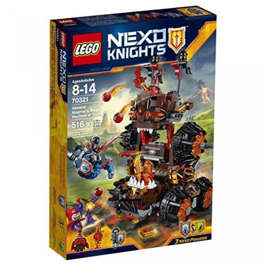 おもちゃ ゲーム 積み木 レゴ ブロック LEGO Nexo Knights 70321 General Magmar's Siege Machine of Doom Building Kit (516 Piece)ミニフィギュア
