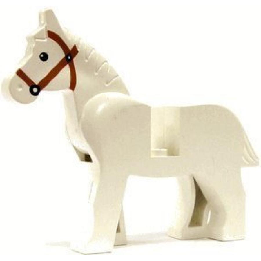 おもちゃ ゲーム 積み木 レゴ ブロック Horse (白い) - LEGO Animal Minifigure by LEGOミニフィギュア