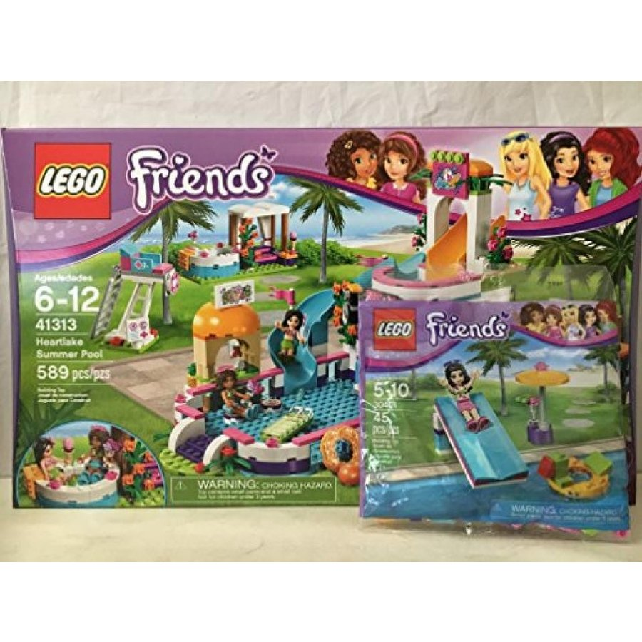 おもちゃ ゲーム 積み木 レゴ ブロック LEGO Friends Heartlake Summer Pool & LEGO Friends Pool Foam Slide Mini Setミニフィギュア