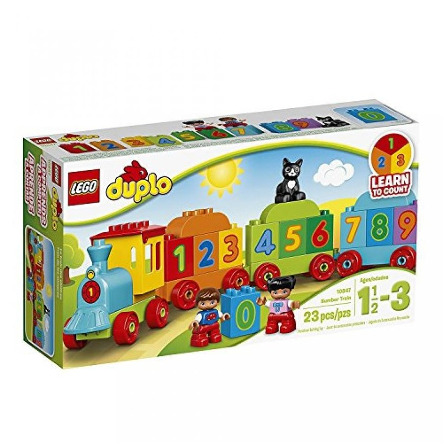 おもちゃ ゲーム 積み木 レゴ ブロック LEGO DUPLO My First Number Train 10847 Preschool Toyミニフィギュア