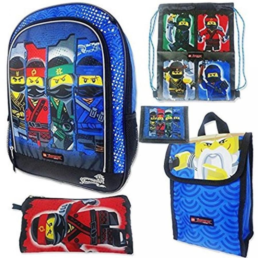 おもちゃ ゲーム 積み木 レゴ ブロック 5pc School Essentials Set Lego Ninjago Movie Boys Backpackミニフィギュア