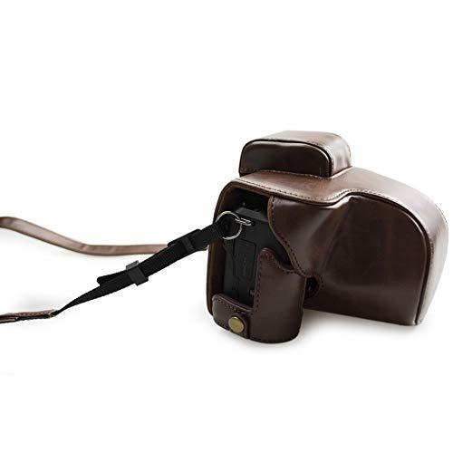 kinokoo Canon EOS Kiss M/EOS M50専用カメラケース カメラバッグ 15-45 mm レンズ 対応 バッテリーの交換でき 三脚ネジ穴|deligo-store|02