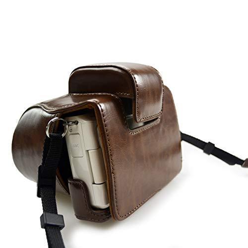 kinokoo Canon EOS Kiss M/EOS M50専用カメラケース カメラバッグ 15-45 mm レンズ 対応 バッテリーの交換でき 三脚ネジ穴|deligo-store|03