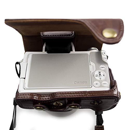 kinokoo Canon EOS Kiss M/EOS M50専用カメラケース カメラバッグ 15-45 mm レンズ 対応 バッテリーの交換でき 三脚ネジ穴|deligo-store|05