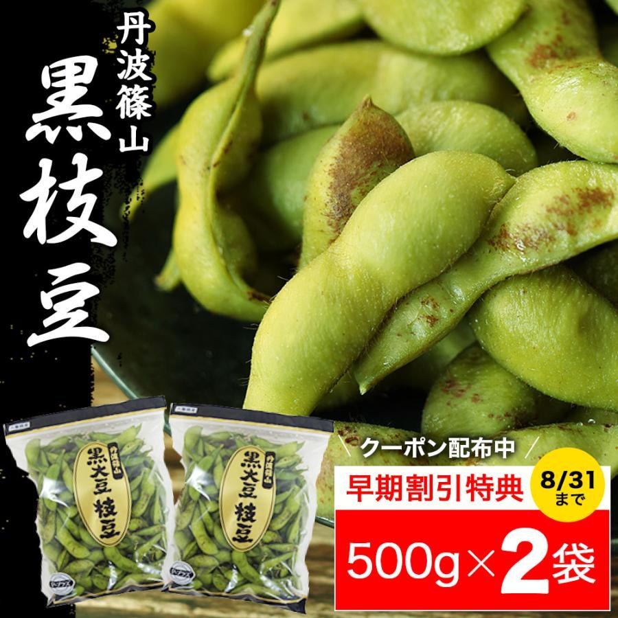 丹波篠山 黒枝豆 さやのみ(500g×2袋)