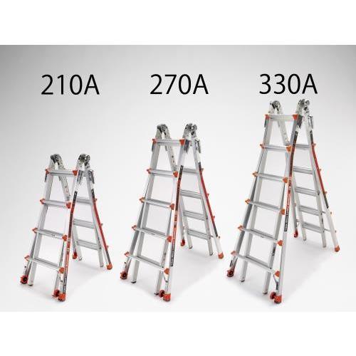 EA905EC-330A エスコ 3.3/7.0m 梯子兼用脚立(伸縮式) 代引不可 時間指定不可