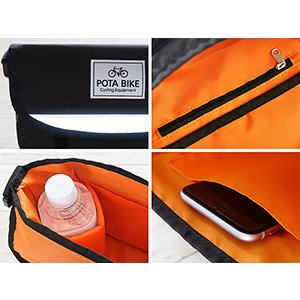 POTA BIKE(ポタバイク) セミハードフロントバッグ for ミニベロ denden 14