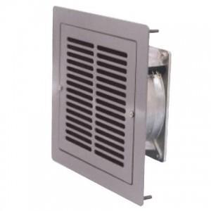 篠原電機 小型通気ギャラリー(屋内用) AC100Vファン1個付 鋼板製 5Y7/1色 SGW1-12-F1