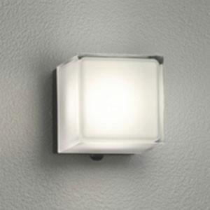 オーデリック LED一体型ポーチライト 防雨型 白熱灯60W相当 電球色 人感センサ付 黒 OG254296P1