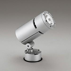 オーデリック LEDスポットライト LEDスポットライト COBタイプ 防雨型 壁・天井・床面取付兼用 CDM-T70W相当 電球色 ミディアム配光 電源装置内蔵 マットシルバー OG254761