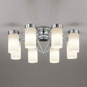 オーデリック LEDシャンデリア 〜10畳用 9.8W×8灯タイプ 電球色 調光タイプ リモコン付 OC257086LC