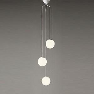 オーデリック LEDシャンデリア 白熱灯50W×3灯相当 電球色 電球色 調光タイプ 電動昇降装置対応 コード調節器付 OC257107LC