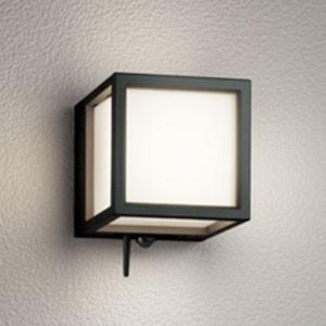 オーデリック LED一体型ポーチライト 防雨型 白熱灯60W相当 電球色 人感センサー・青tooth通信アンテナ付 黒 OG254832BC