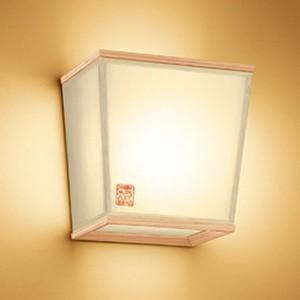 オーデリック LED和風ブラケットライト 白熱灯60W相当 電球色 調光タイプ 秋田杉 OB255207LC