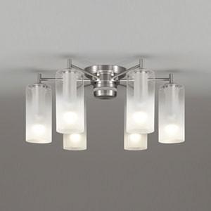 オーデリック LEDシャンデリア AQUA Mist 〜6畳用 5.7W×6灯タイプ 電球色⇔昼白色 光色切替調光タイプ リモコン付 OC257112PC