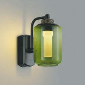 コイズミ照明 LED一体型ポーチ灯 One's Lamp #2EX 防雨型 白熱球40W相当 電球色 調光タイプ モスグリーン AU42204L